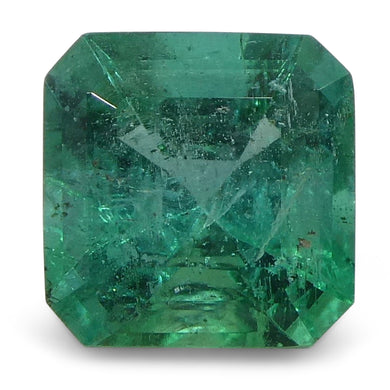 Emerald 0.95cts 6.07x5.97x4.20mm Square slightly bluish Green $380