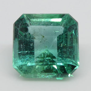 Emerald 1.44cts 6.83x6.80x4.42mm Square slightly bluish Green $580