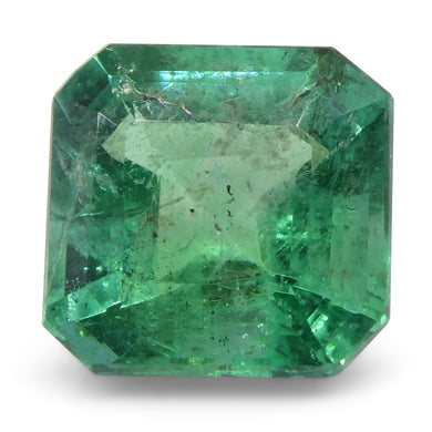 Emerald 1.3cts 6.76x6.64x4.37mm Square slightly bluish Green $520