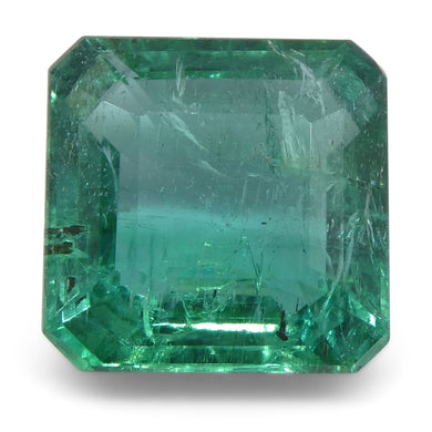 Emerald 3.36cts 9.18x9.15x5.21mm Emerald Cut bluish Green $2270