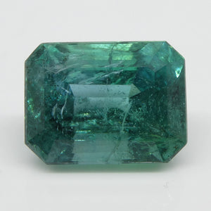 Emerald 4.11cts 10.44x8.09x6.82mm Emerald Cut bluish Green $2280