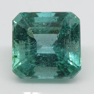 Emerald 3.11cts 8.52x8.33x6.24mm Emerald Cut slightly bluish Green $1710