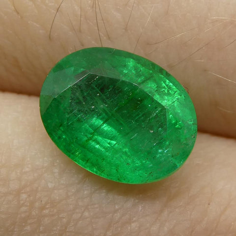 1.93 ct Oval Russian Emerald