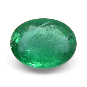 Emerald 1.92 cts 9.20x7.19x4.26mm Oval Green  $810