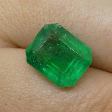 5.26ct Octagonal / Emerald Cut Emerald - Skyjems Wholesale Gemstones