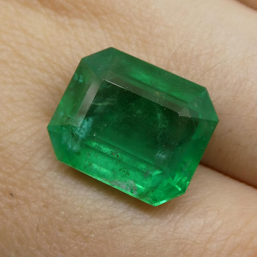 9.90ct Octagonal / Emerald Cut Emerald