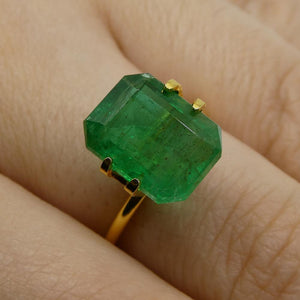 6.46ct Octagonal / Emerald Cut Emerald - Skyjems Wholesale Gemstones