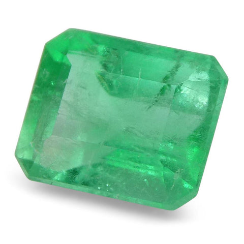 0.78 ct Emerald Cut Emerald Colombian