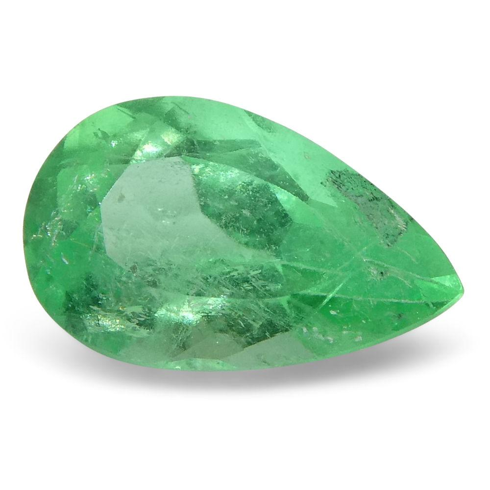 0.66 ct Pear Emerald Colombian