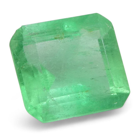 0.85 ct Emerald Cut Emerald Colombian