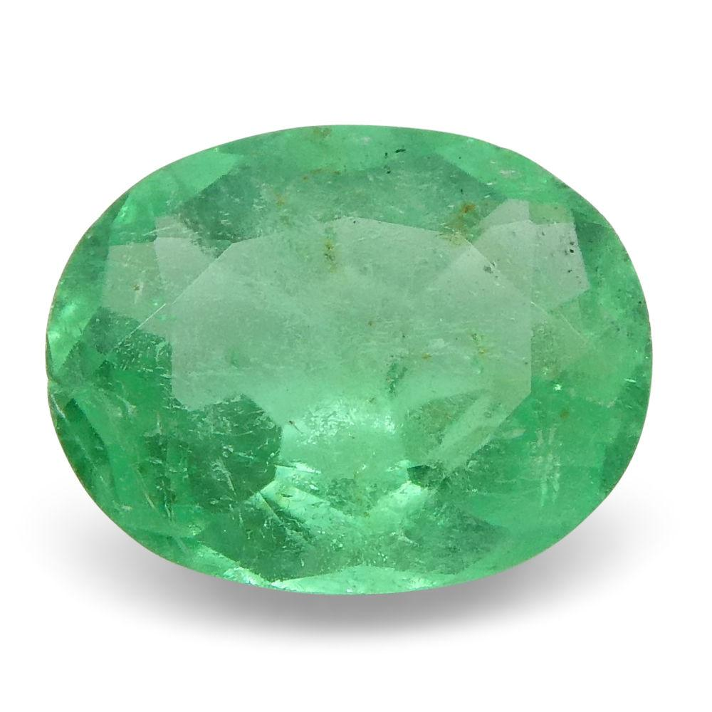 0.59 ct Oval Emerald Colombian