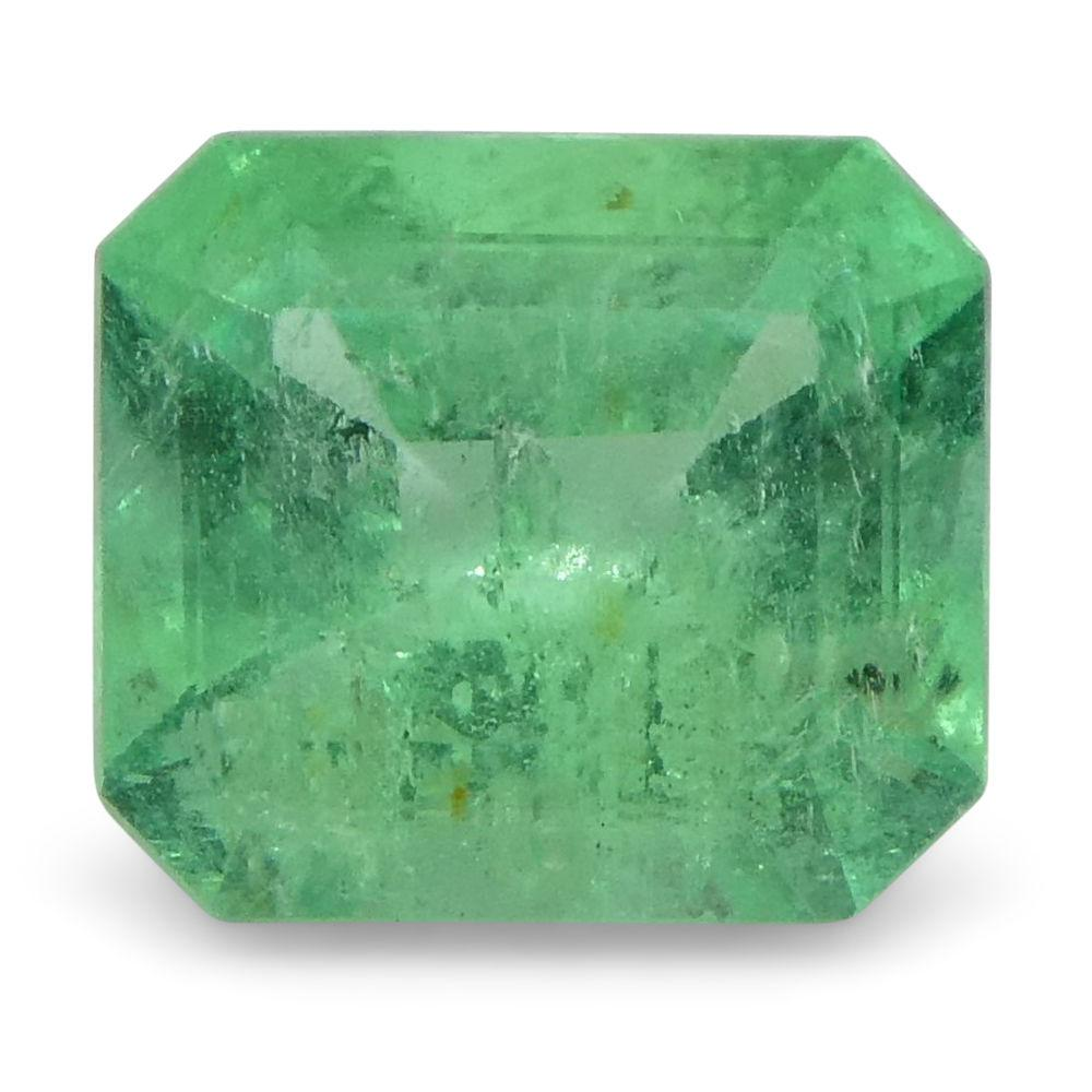 0.71 ct Emerald Cut Emerald Colombian