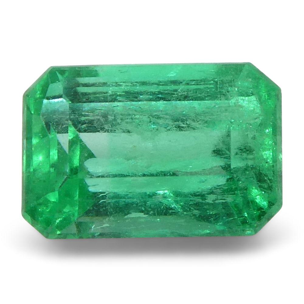 0.61 ct Emerald Cut Emerald Colombian
