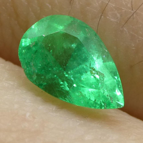 0.54 ct Pear Emerald Colombian