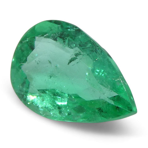 0.64 ct Pear Emerald Colombian