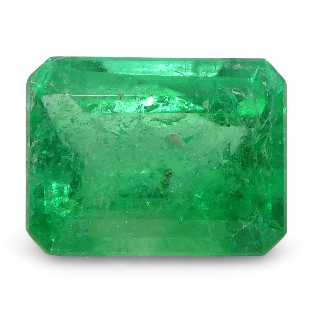 0.44 ct Emerald Cut Emerald Colombian