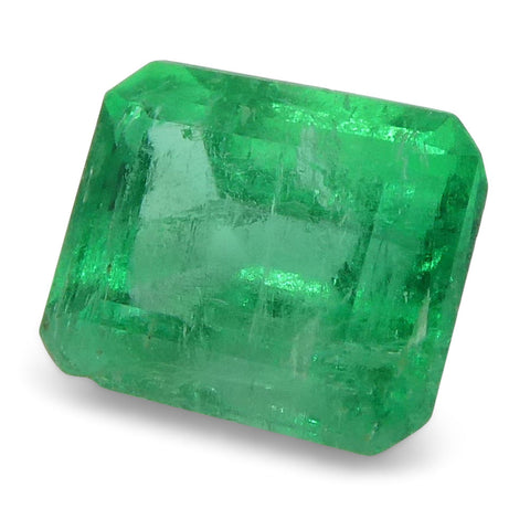 0.48 ct Emerald Cut Emerald Colombian