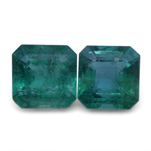 Emerald 3.8 cts 7.40x7.21x4.43 mm and 7.58x7.40x5.08 mm Square Green $1220