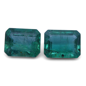 5.40 ct Pair Emerald Cut Emerald - Skyjems Wholesale Gemstones