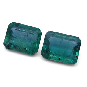5.40 ct Pair Emerald Cut Emerald