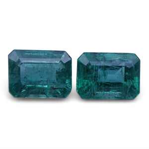 Emerald 3.6 cts 8.17x6.04x4.87 mm and 8.13x6.10x4.53 mm Emerald Cut Green $1440