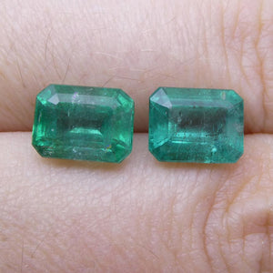4.48 ct Pair Emerald Cut Emerald
