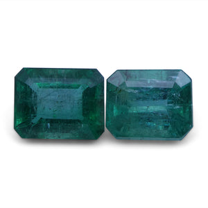 Emerald 5.19 cts 8.79x7.17x5.39 mm and 9.11x7.14x5.25 mm Emerald Cut Green $2850