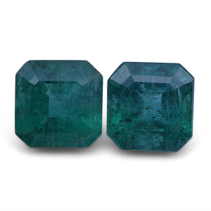 4.94 ct Pair Square Emerald - Skyjems Wholesale Gemstones