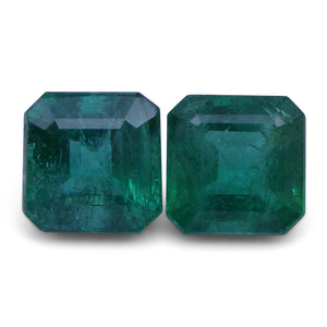 Emerald 3.79 cts 7.01x6.99x4.93 mm and 7.09x6.97x5.62 mm Square Green $1520