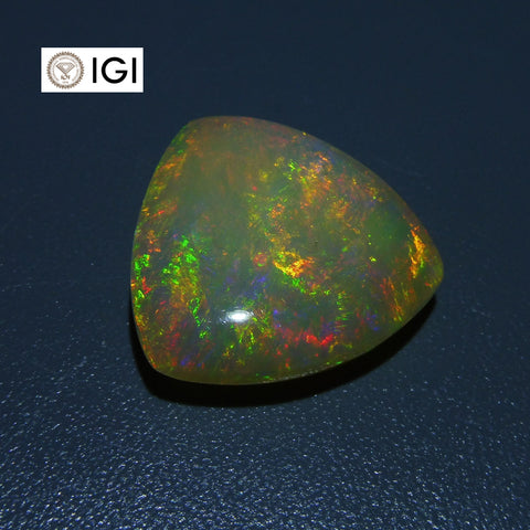 12.58 ct Triangle Cabochon Opal IGI Certified