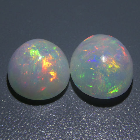 7.14ct Oval Cabochon Crystal Opal Pair