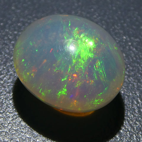3.54ct Oval Cabochon Crystal Opal
