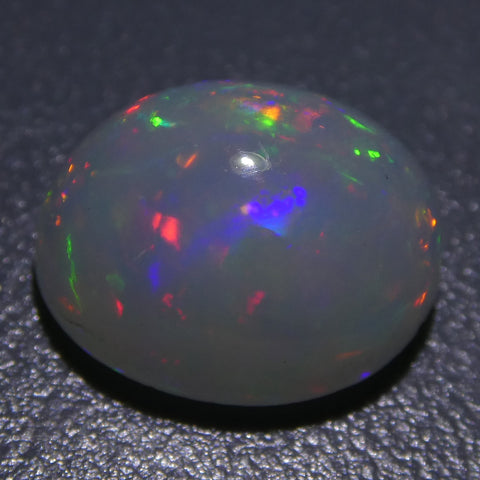 3.03ct Oval Cabochon Crystal Opal