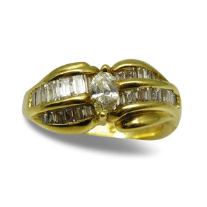 Beautiful 18kt Yellow Gold and 0.75 ct twt Diamond Ring