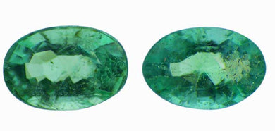 0.80 ct Pair Oval Cut Natural Emerald - Skyjems Gemstones Gems