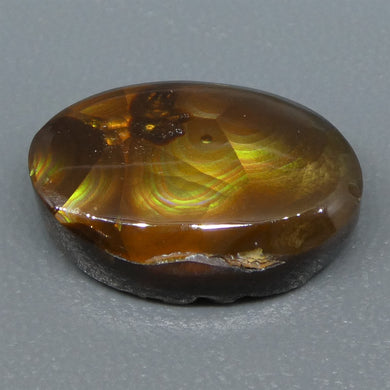 Mexican Fire Agate 6.94cts 15.45x10.50x4.74mm Freeform Reddish-brown base, with flashes of orange, red, green and gold $60