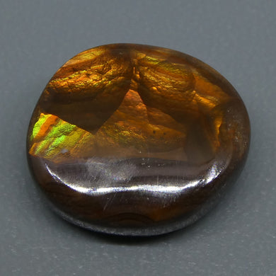 Mexican Fire Agate 6.43cts 13.32x11.97x5.06mm Freeform Reddish-brown base, with flashes of orange, red, green and gold $60