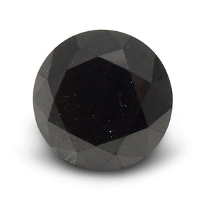 2.87 ct Round Black Diamond