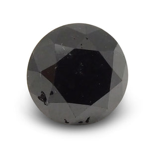 2.46 ct Round Black Diamond
