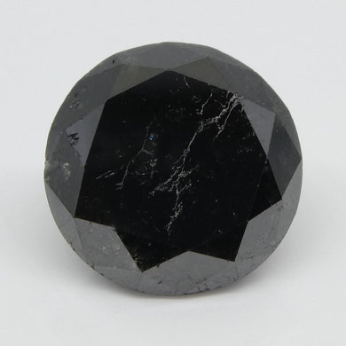 5.02ct Black Diamond Round - Skyjems Wholesale Gemstones
