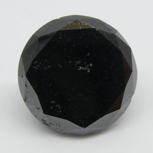 6.36ct Black Diamond Round - Skyjems Wholesale Gemstones