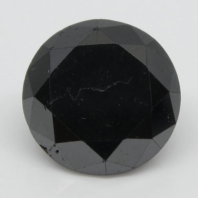 2.13ct Black Diamond Round - Skyjems Wholesale Gemstones