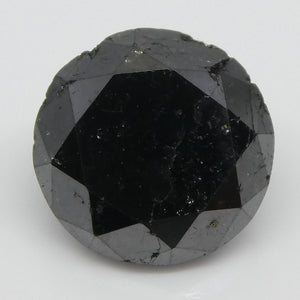 2.04ct Black Diamond Round - Skyjems Wholesale Gemstones