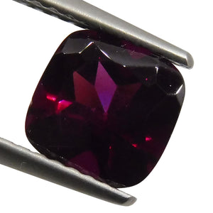 2.03 ct Cushion Raspberry Garnet