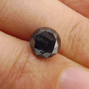 2.01 ct Round Black Diamond
