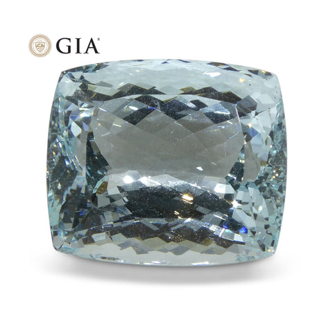 27.34 ct Cushion Aquamarine GIA Certified