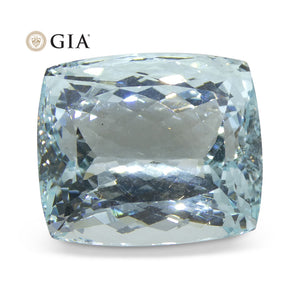 27.34 ct Cushion Aquamarine GIA Certified - Skyjems Wholesale Gemstones