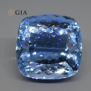59.84ct Cushion Aquamarine GIA Certified - Skyjems Wholesale Gemstones
