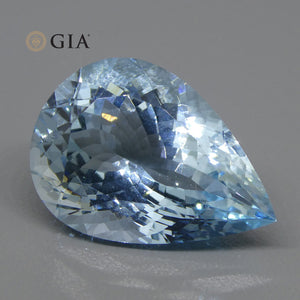 Aquamarine 17.43 cts 22.39 x 15.86 x 10.62 mm Pear Blue  $6100