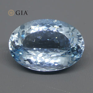 20.28ct Oval Aquamarine GIA Certified - Skyjems Wholesale Gemstones